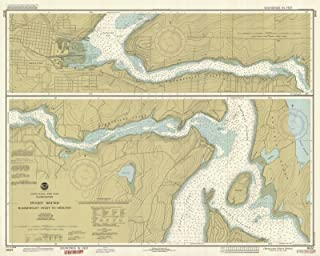 Map - Hammersley Inlet To Shelton, WA, 1989 Nautical NOAA Chart - Vintage Wall Art - 44in x 36in