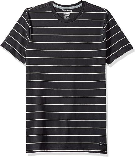 Billabong Homme Die Cut Stripe manche courte Top T-Shirt