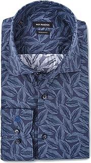 Roy Robson Camisa de algodón para hombre con estampado floral - corte regular