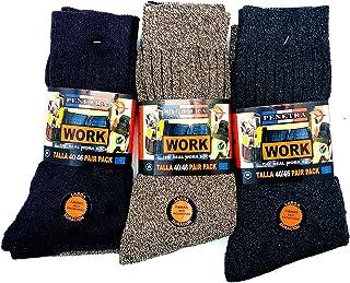 Calcetines de trabajo seguridad, larga fibras anti rozaduras, ideal para el uso de seguridad y para deportes de invierno o situaciones de frío y humado