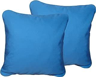 Mozaic Company Sunbrella Indoor/ Outdoor 20-inch Corded Pillow, Capri Blue, Set of 2