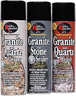 Rock Doctor Granite & Quartz Care Kit, 3 Piece Maintenance Stone Care Combo Kit –..