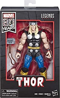"""Marvel Comics 80th Anniversary Legends Series 6""""-Scale Vintage Comic-Inspired Thor Collectible Action Figure"""