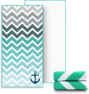 Ricdecor Beach Towel Large Beach Blanket Towel with Tassels Ultra Soft Super Water Absorbent Multi-Purpose Beach Throw Oversized 31.5