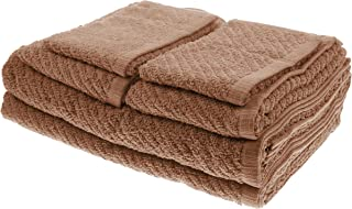 White Dove Classic Value Towel Set - 6 PCS Included: 2 Bath Towels, 2 Hand Towels, & 2 Washcloths - Cotton/Poly Blend for Maximum Performance - Lightweight - Quick Dry - by Unity (Chocolate Brown)