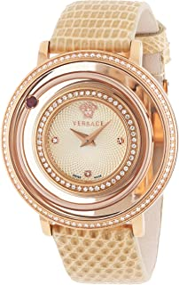 Women's VFH080013 Venus Rose Gold Ion-Plated Coated Stainless Steel Red Genuine Topaz Diamond Watch