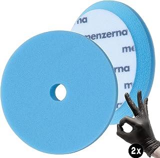 detailmate Set - Menzerna Wax Foam Pad - 150 mm - zeer zachte polijstspons - ideaal om te groeien - blauw + 2 nitril - bes...