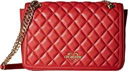Quilted Crossbody Chain Strap