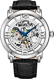 Original Skeleton Mens Watch - Winchester Mechanical Automatic Watch Self Wind Mens Dress Watch - with Premium Leather Band