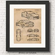 Original Aston Martin Vanquish Patent Poster Prints, Set of 1 (11x14) Unframed Photo, Wall Art Decor Gifts Under 15 for Home, Office, Man Cave, College Student, Teacher, England Cars & Coffee Fan