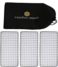 Expedition Research LLC Family 3-Pack - The Original Bushcraft Grill - Welded Stainless Steel High Strength Mesh (Campfire Rated), USA
