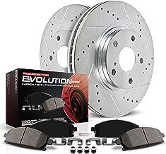 Power Stop K1043 Front Brake Kit with Drilled/Slotted Brake Rotors and Z23 Evolution Ceramic Brake Pads