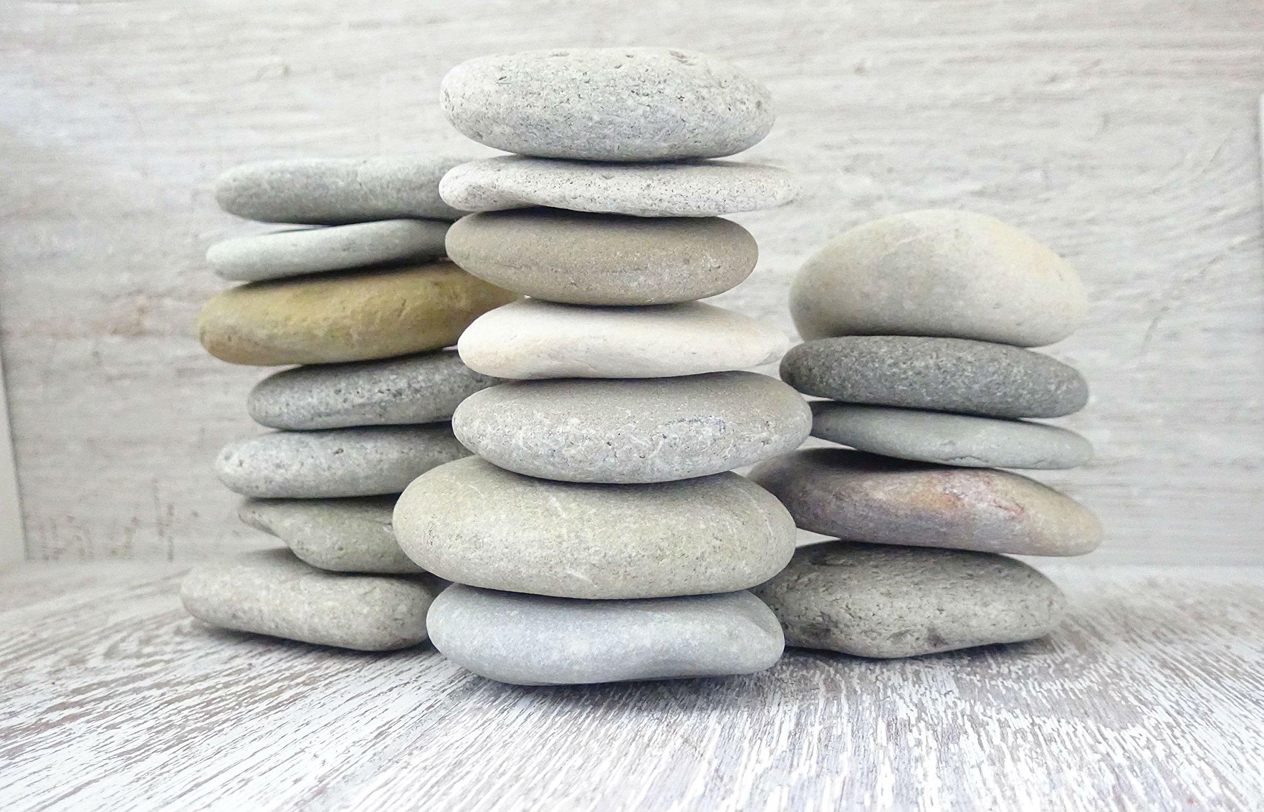 DIY Art Studio ZenStones/1 kg Piedras planas/piedras marinas/piedras/piedras decorativas/piedras de mandala/casco/piedras de playa/piedras artísticas/decoración de playa/arte de playa: Amazon.es: Electrónica