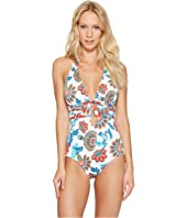 Tommy Bahama - Fira Floral Lace-Up Halter One-Piece