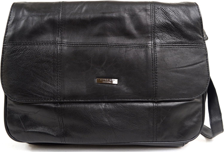 Ladies   Womens Soft Nappa Leather Medium Practical Handbag   Shoulder Bag