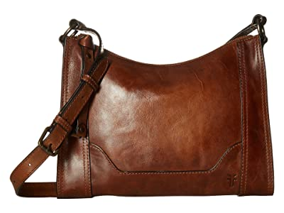 Frye Melissa Zip Crossbody (Cognac Antique Pull Up) Cross Body Handbags