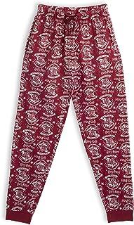 Pantalones de Pijama para Mujer Hombre, Hogwarts Pijamas Invierno Mujer 100% Algodón Ropa de Dormir, Pantalón Largo Cómodo, Regalos Niños Niñas Mujeres Hombres