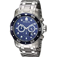 Invicta Men's 0070 Pro Diver Collection Analog Chinese Quartz Chronograh Silver-Tone/Blue...