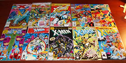 Xmen Related Annual Lot of 10 Comic Books (New Mutants 6, Uncanny X men 12 13 and 15 16, X Factor 4 and 8, and X Force 1 2 and 3)
