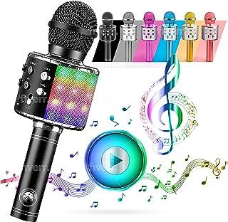 ATLAS karaoke-microfoon, draadloze Bluetooth USB LED Flash Microfoon draagbaar geschenk draadloze luidspreker voor familie...