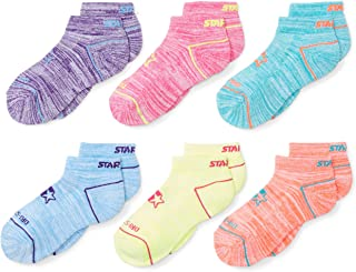 Starter Girls' 6-Pack Athletic Low-Cut Ankle Socks, Amazon Exclusive