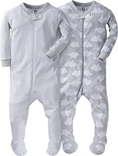 Gerber Baby Boys' 2-Pack Footed Unionsuit