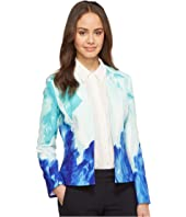 Tahari by ASL - Printed Crepe Open Jacket
