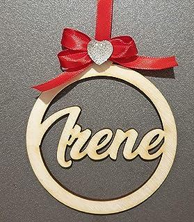Decorazione natalizia in legno personalizzata con nome