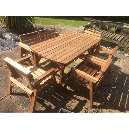 Fine Wooden Garden Table And Chairs Amazon Co Uk Download Free Architecture Designs Sospemadebymaigaardcom