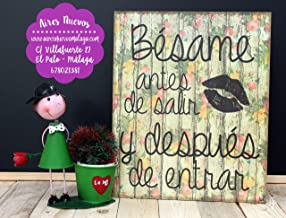 Cuadro de madera con frases y mensajes positivos e inspiradores para decorar el hogar y regalar