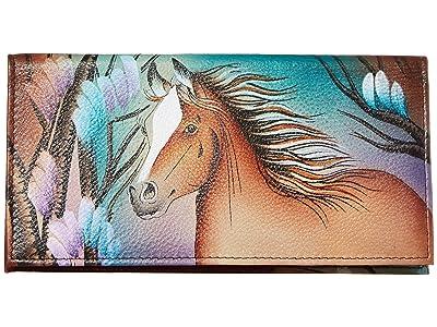 Anuschka Handbags Checkbook Cover 1056 (Free Spirit) Clutch Handbags