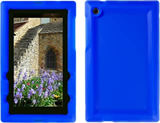 Bobj Rugged Case for ASUS MeMO Pad 7 ME572C, K007 Model Tablet - BobjGear Custom Fit - Patented Venting - Sound Amplification - BobjBounces Kid Friendly (Batfish Blue)