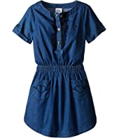 Armani Junior - Two-Pocket Dress with Ruffled Detail (Big Kids)