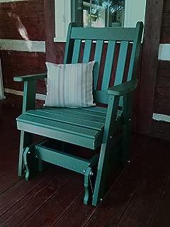 Poly 2 Ft Single Traditional English Glider Chair - Amish Made USA -Cedar