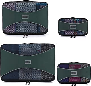 Pro Packing Cubes Lightweight Travel Cube Luggage Organizers - 4 Piece Set