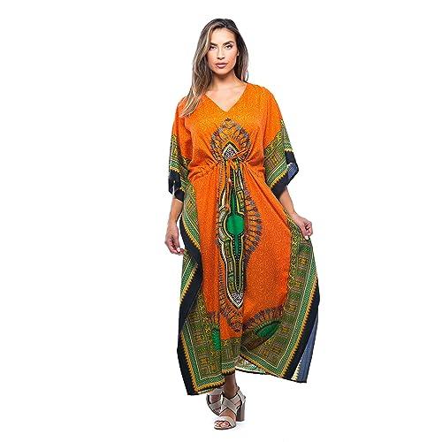 083f01d56e38 Riviera Sun African Print Dashiki Maxi Caftan for Women