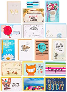 American Greetings Premium All Occasion Cards Assortment with Organizer (16-Count)