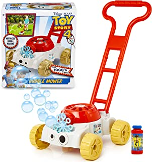 Disney Cortacesped De Juguete con Burbujas De Toy Story Empuje El Cortacésped para Niños con Forky Y La Máquina Motorizada De Burbujas | Solución De Jabon Incluida | A Partir De 3 Años