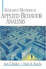 Research Methods in Applied Behavior Analysis Kindle Edition