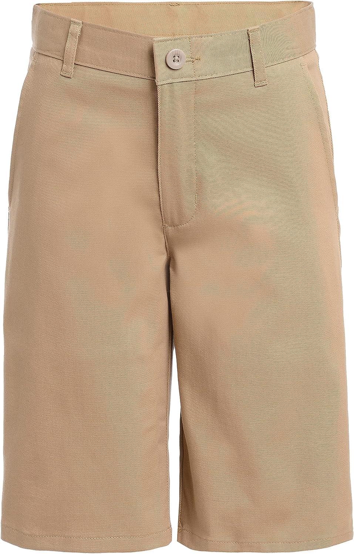 Nautica Boys' School Uniform Flat Front Stretch Twill Short