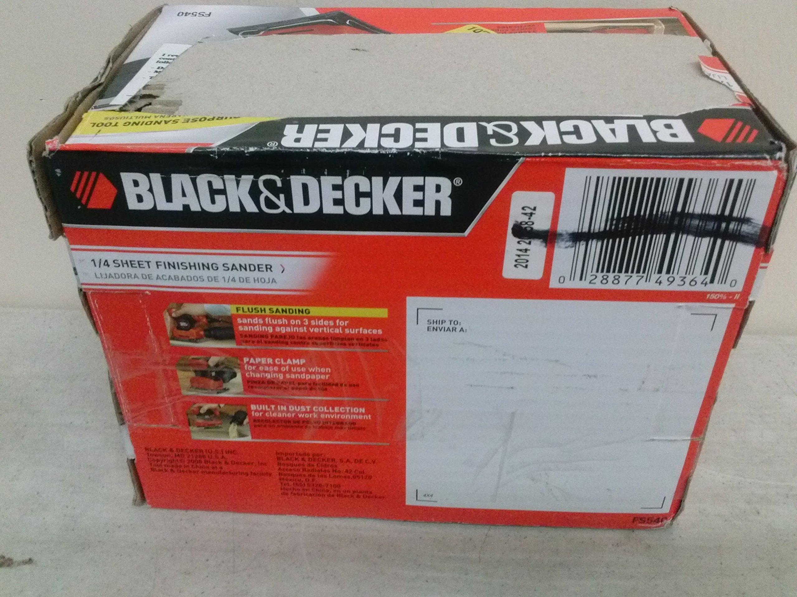 Sheet Finishing Sander Black /& Decker FS540R 1//4 in