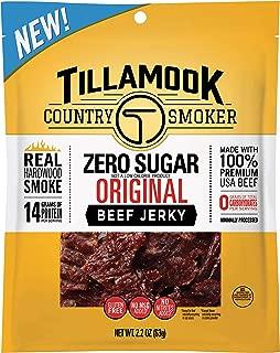 Tillamook Country Smoker Zero Sugar Original Keto Friendly Beef Jerky, 2.2 Ounce (Pack of 1)