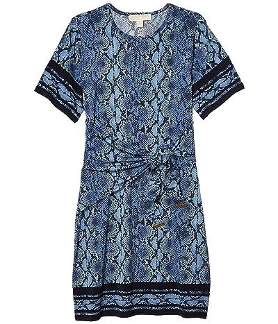 MICHAEL Michael Kors Snake Border Tie Dress (Chambray) Women