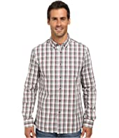 Kenneth Cole Sportswear - Long Sleeve Slim Plaid Shirt