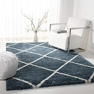 Safavieh Hudson Shag Collection SGH281L Slate Moroccan Diamond Trellis Area Rug (8' x 10')