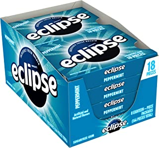 Sponsored Ad - ECLIPSE Peppermint Sugar Free Chewing Gum, 18 Pieces (8 Packs)