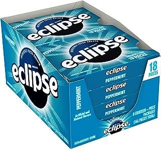 Eclipse Peppermint Sugarfree Gum, 18 Piece Pack (8 Packs)