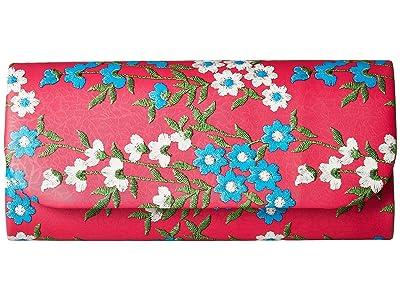 Adrianna Papell Katie (Fuchsia Floral) Clutch Handbags