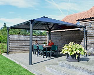 Palram Palermo Outdoor Gazebo - Aluminum Structure & Hardtop - Ideal as Patio Cover or Garden Awning for Year-Round Use - ...