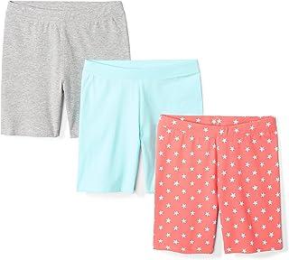 Spotted Zebra Girls' 3-Pack Bike Shorts